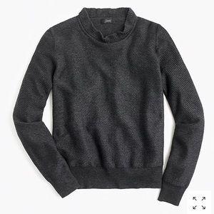 NWT J.Crew ruffle neck pullover sweater